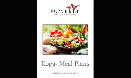 Kopa Birth Plus online childbirth class Kopa® Meal Plans